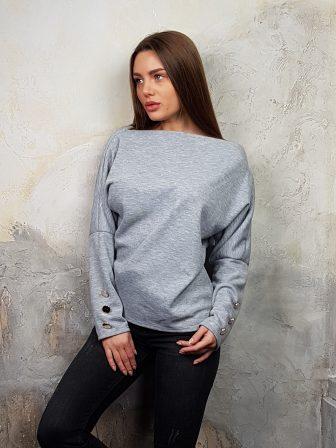 Дамска блуза с копчета на ръкавите WLS 2827 - 18