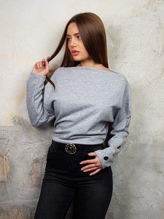 Дамска блуза с копчета на ръкавите WLS 2827 - 15