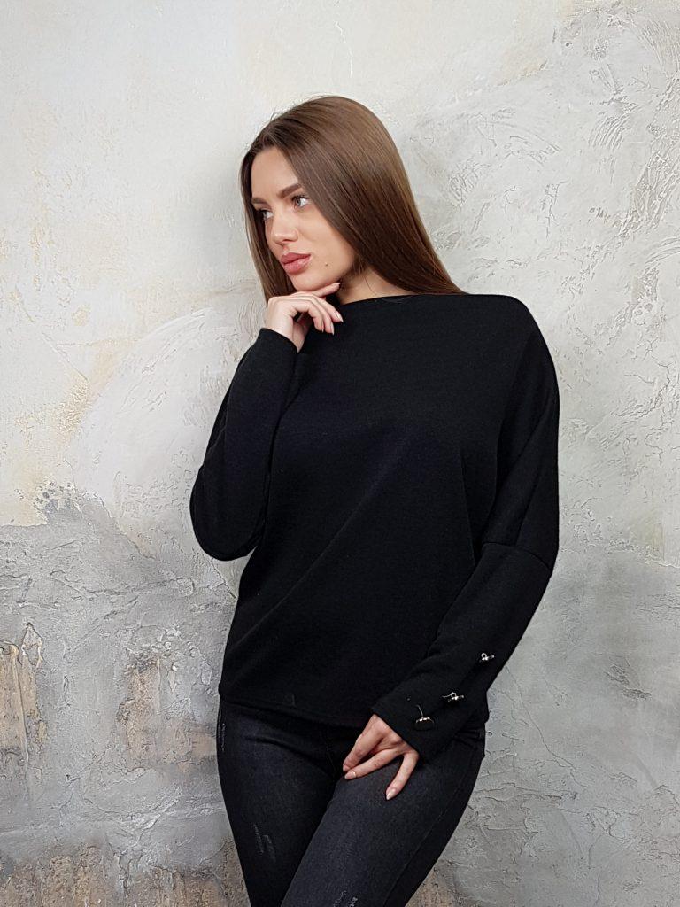Дамска блуза с копчета на ръкавите WLS 2827 - 14