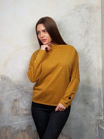 Дамска блуза с копчета на ръкавите WLS 2827