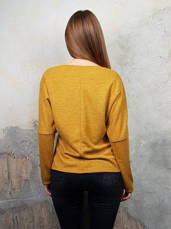 Дамска блуза с копчета на ръкавите WLS 2827 - 11