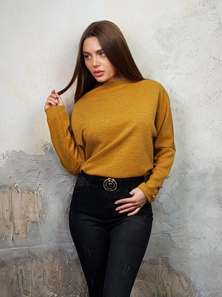 Дамска блуза с копчета на ръкавите WLS 2827 - 10