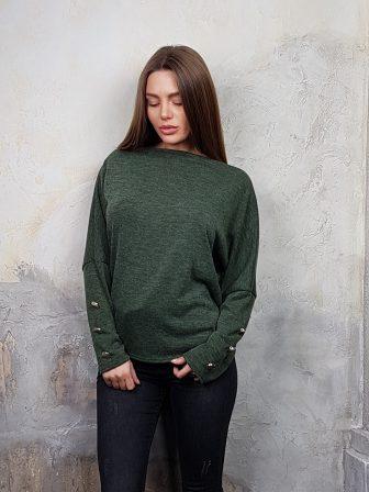 Дамска блуза с копчета на ръкавите WLS 2827 - 9