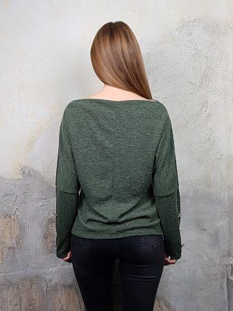 Дамска блуза с копчета на ръкавите WLS 2827 - 8