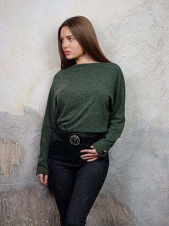 Дамска блуза с копчета на ръкавите WLS 2827 - 7