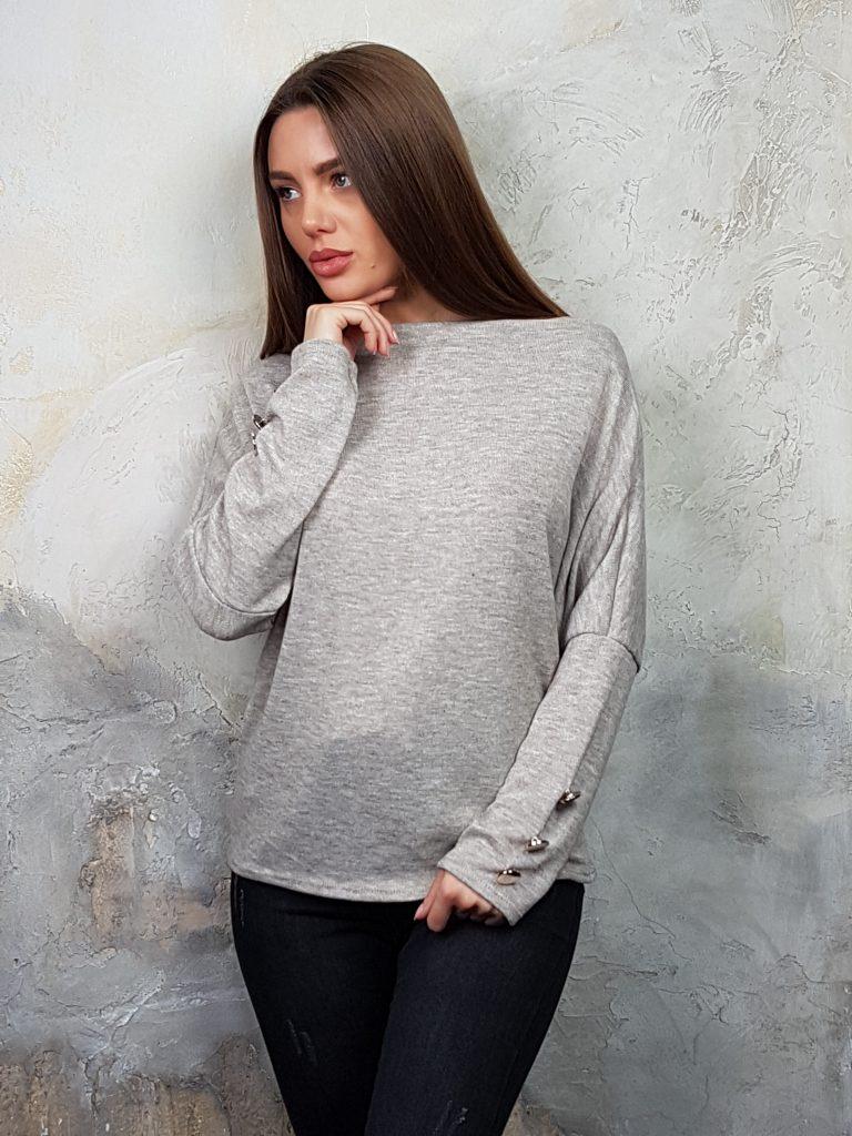 Дамска блуза с копчета на ръкавите WLS 2827 - 6