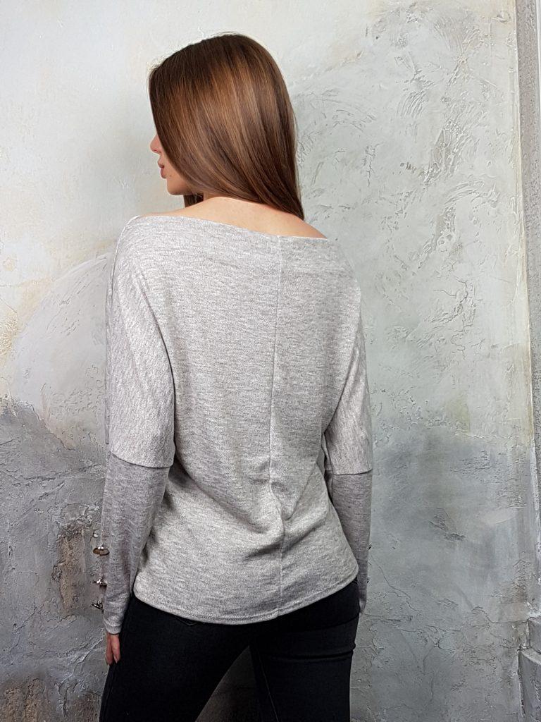Дамска блуза с копчета на ръкавите WLS 2827 - 5