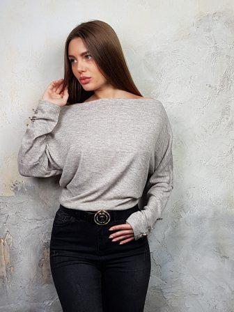 Дамска блуза с копчета на ръкавите WLS 2827 - 4