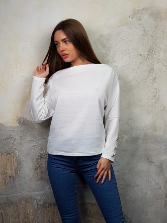 Дамска блуза с копчета на ръкавите WLS 2827 - 3