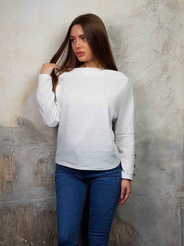 Дамска блуза с копчета на ръкавите WLS 2827 - 2