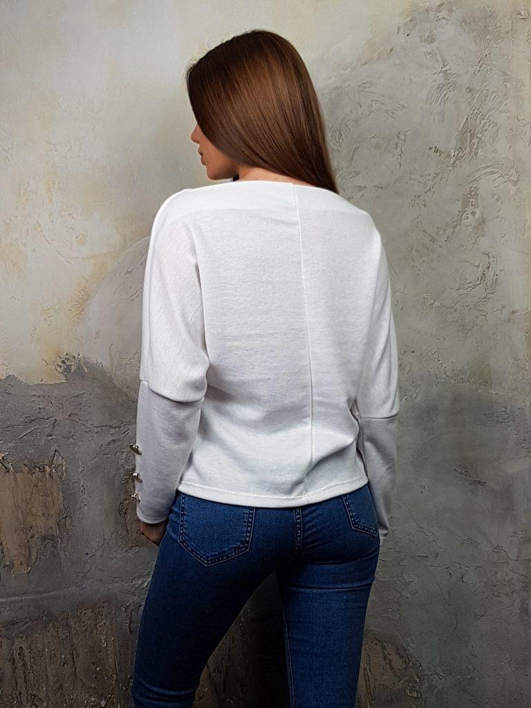 Дамска блуза с копчета на ръкавите WLS 2827 - 1