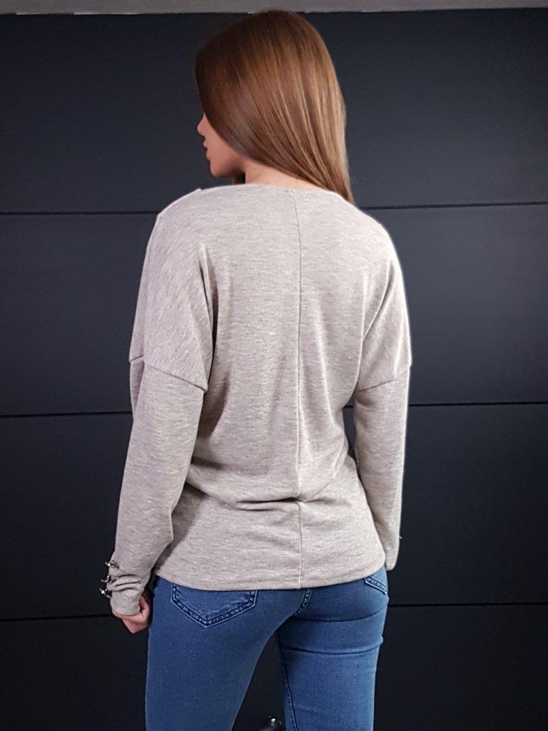 Дамска блуза с копчета на ръкавите WLS 3199 - 15
