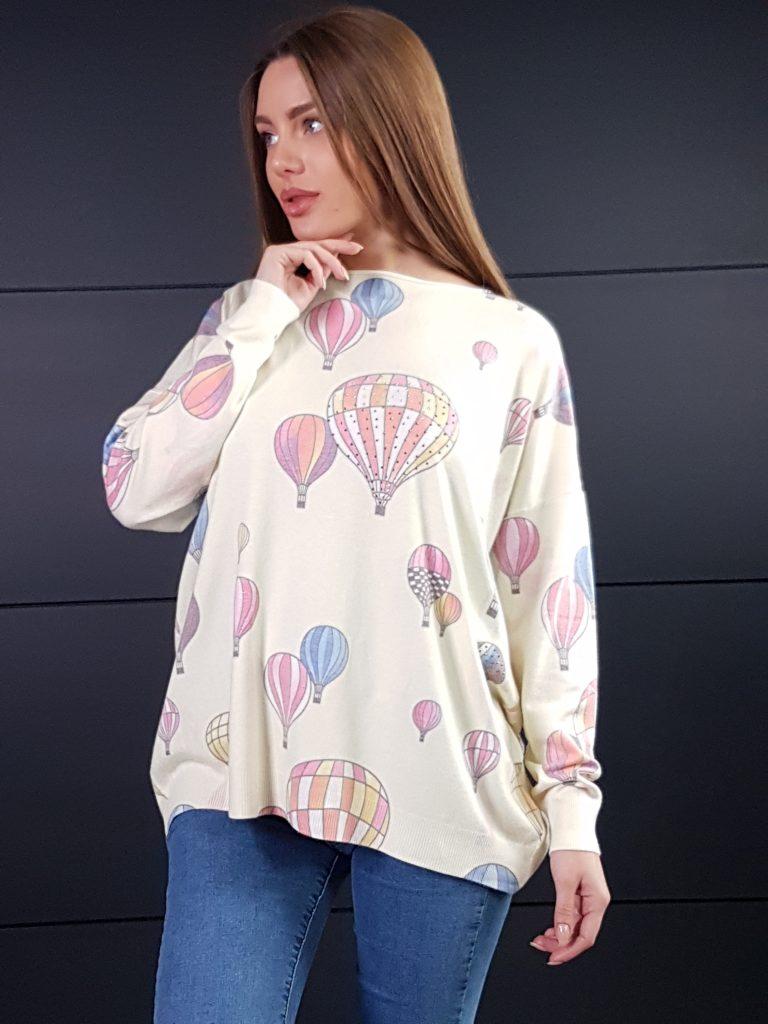 Дамска кашмирена блуза Balloons Minority 8687 - 6