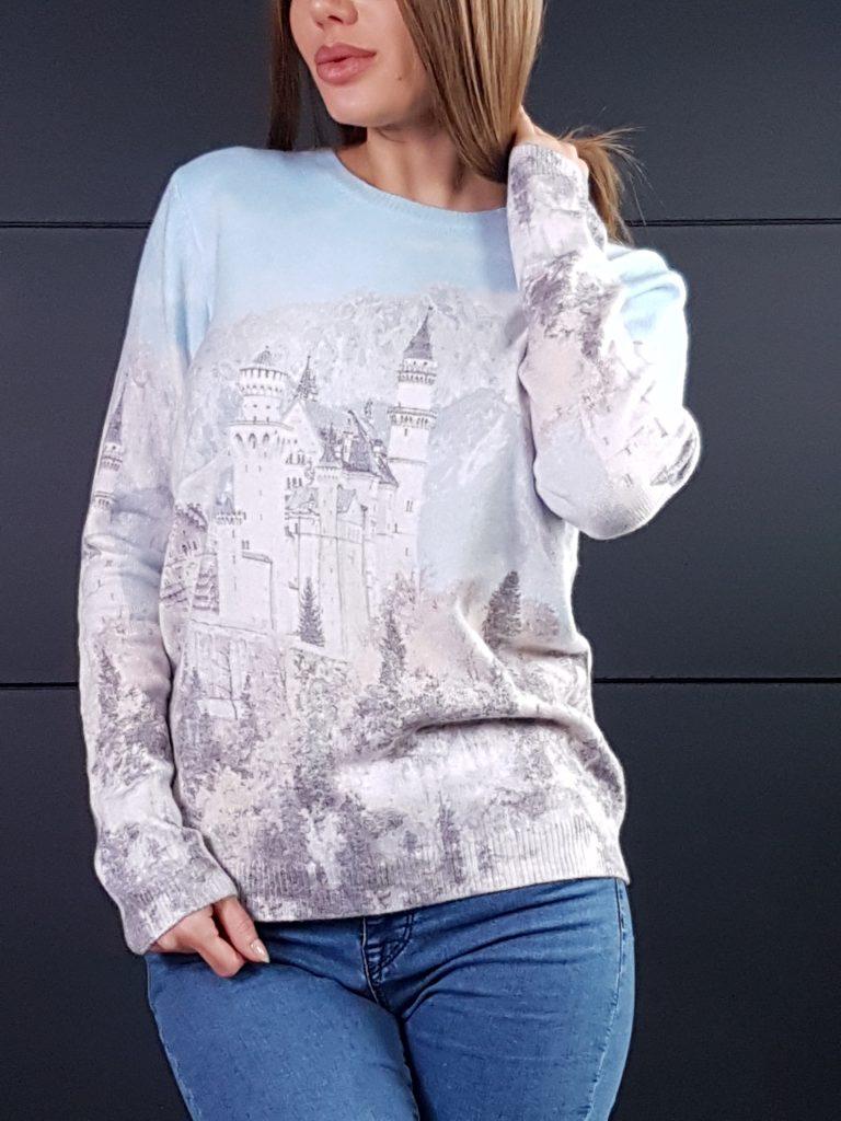 Дамска топла кашмирена блуза Louise Orop 5222 - 0