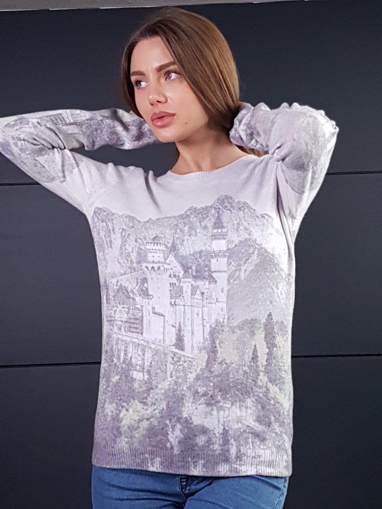 Дамска топла кашмирена блуза Louise Orop 5222 - 3