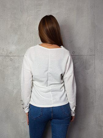Дамска блуза с копчета на ръкавите WLS 3199 - 10