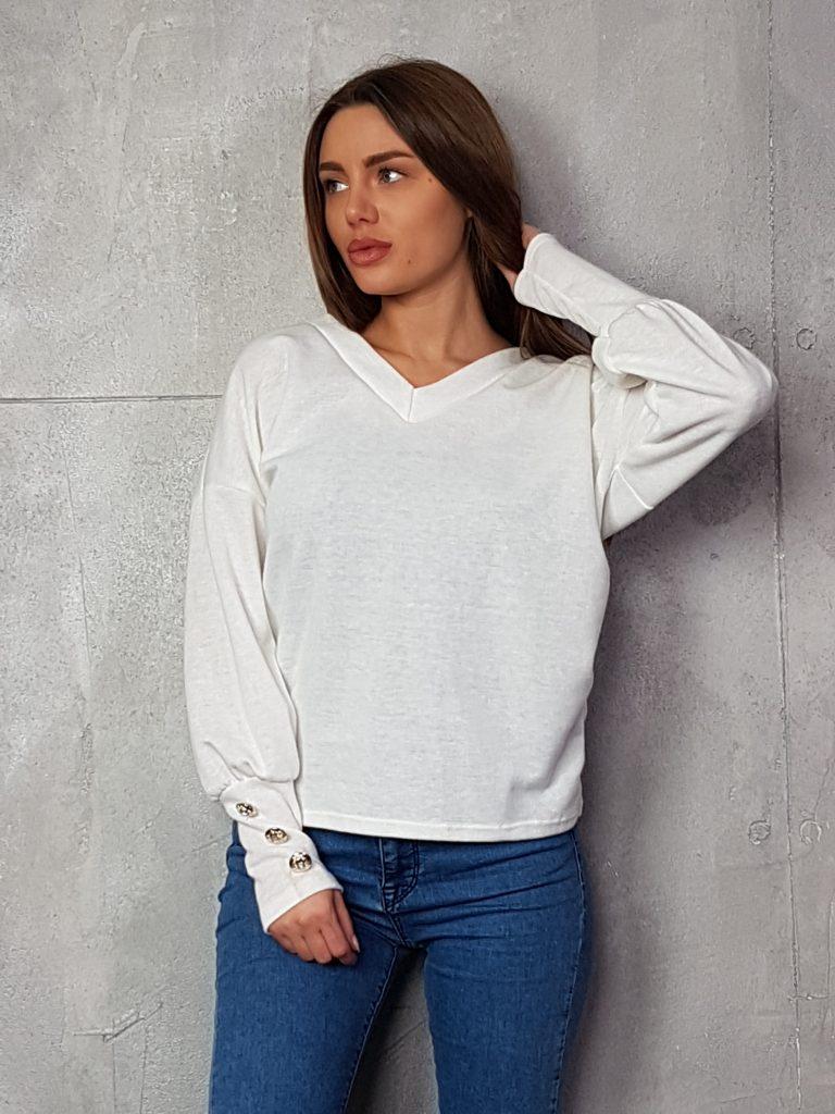 Дамска блуза с копчета на ръкавите WLS 3198 - 4