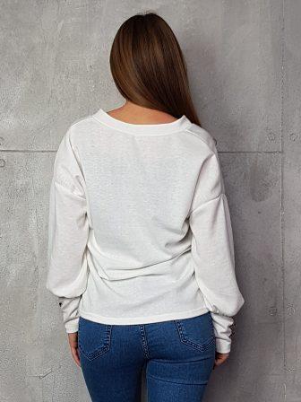 Дамска блуза с копчета на ръкавите WLS 3198 - 3