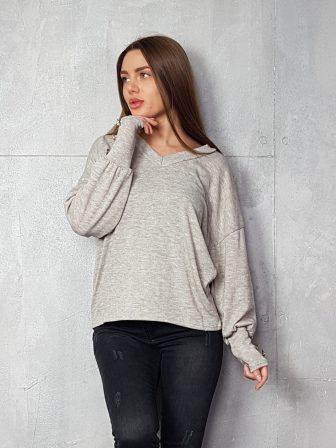 Дамска блуза с копчета на ръкавите WLS 3198