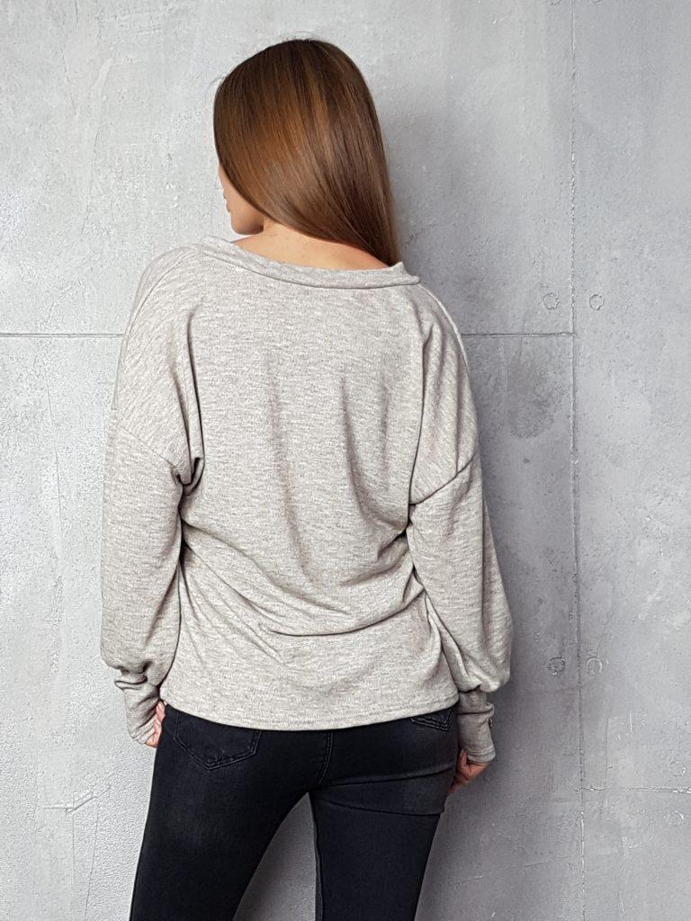 Дамска блуза с копчета на ръкавите WLS 3198 - 1