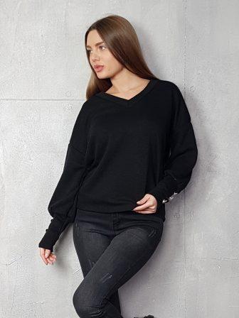 Дамска блуза с копчета на ръкавите WLS 3198 - 6