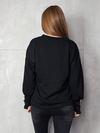 Дамска блуза с копчета на ръкавите WLS 3198 - 8