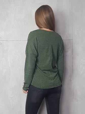 Дамска блуза с копчета на ръкавите WLS 3199 - 7