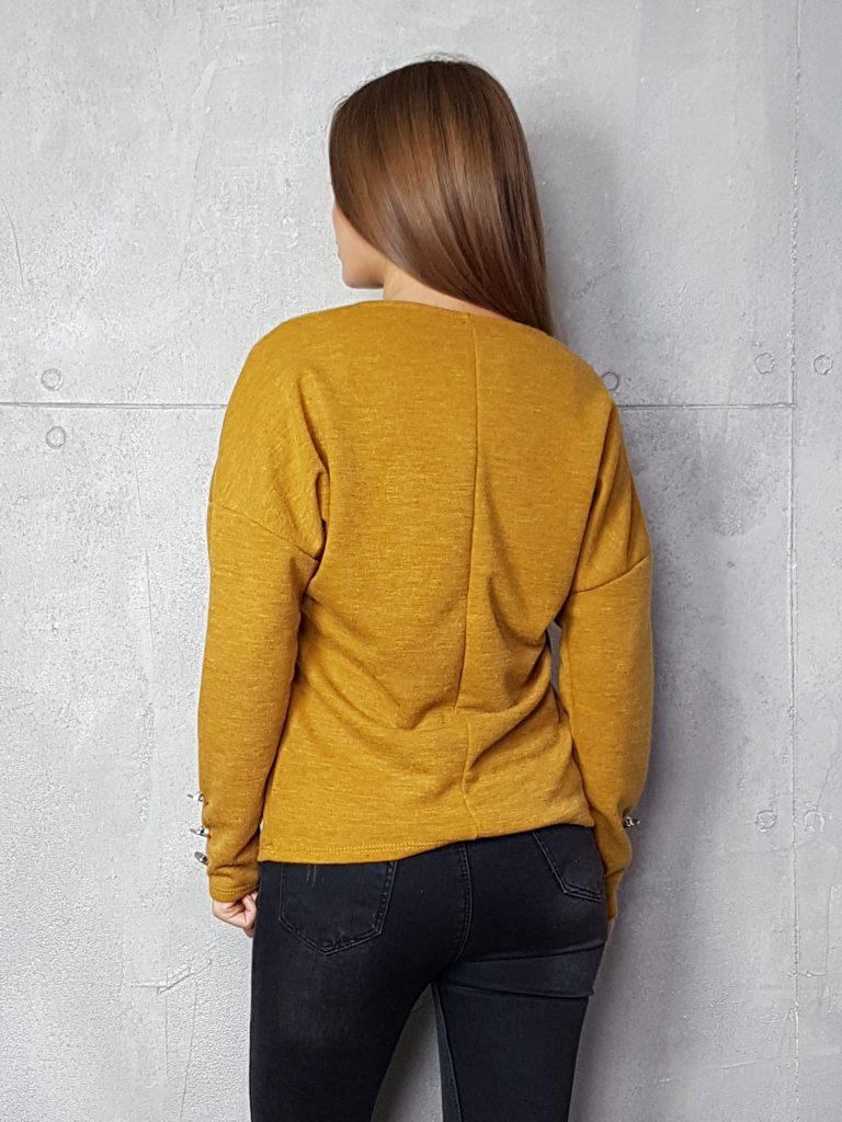 Дамска блуза с копчета на ръкавите WLS 3199 - 4