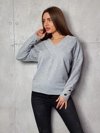 Дамска блуза с копчета на ръкавите WLS 3199
