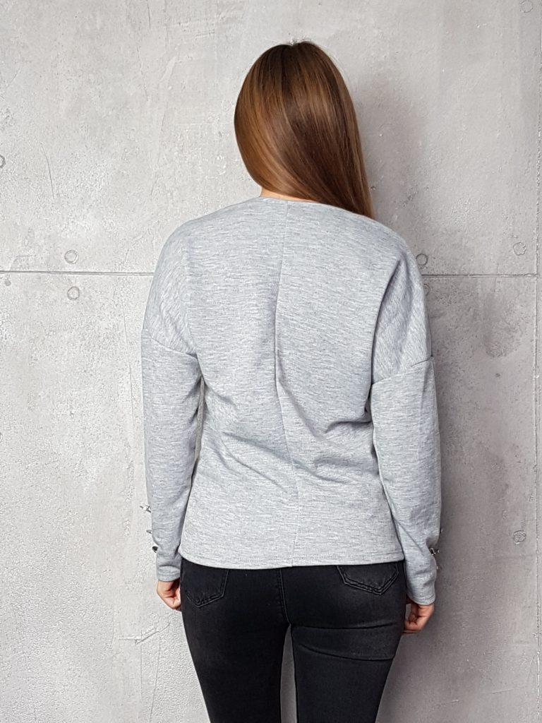 Дамска блуза с копчета на ръкавите WLS 3199 - 1