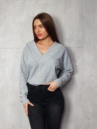 Дамска блуза с копчета на ръкавите WLS 3199 - 0