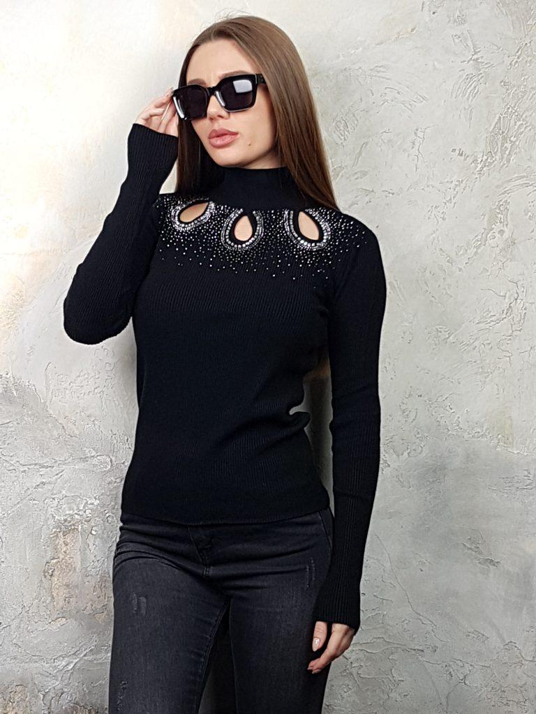 Дамска блуза с дантелено деколте Forest Bella 1336 - 7