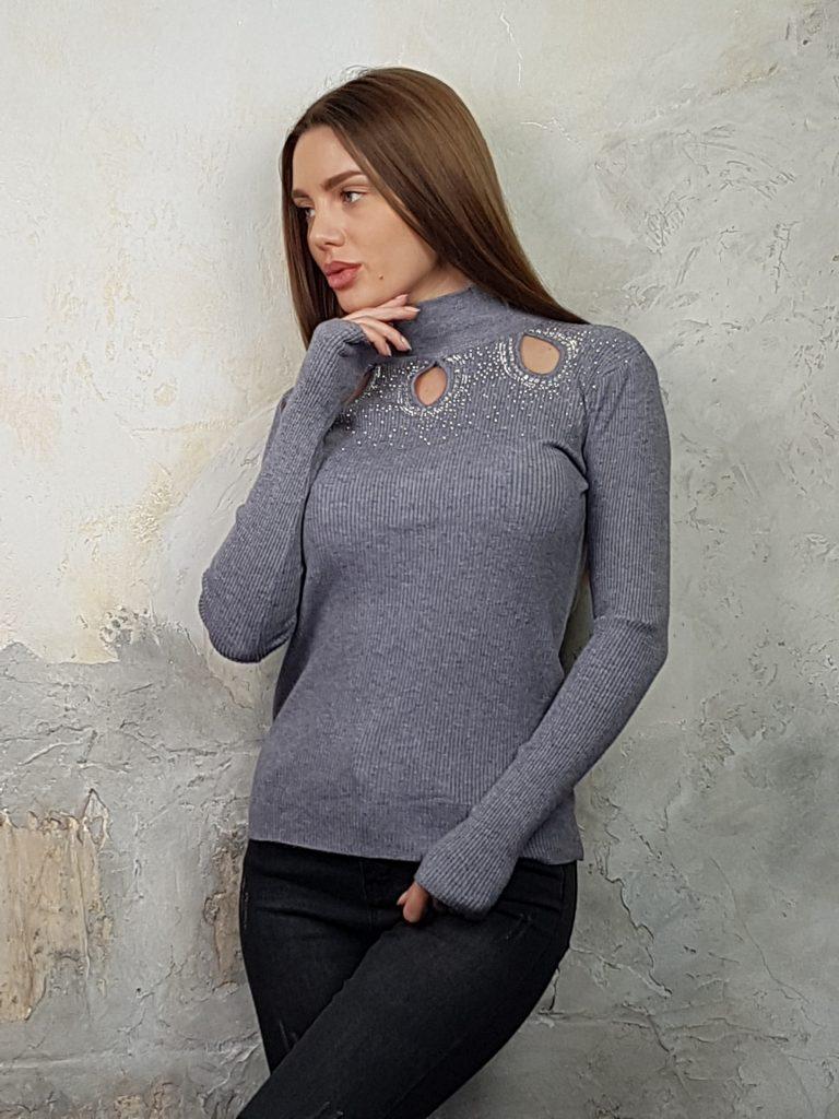 Дамска блуза с дантелено деколте Forest Bella 1336 - 4