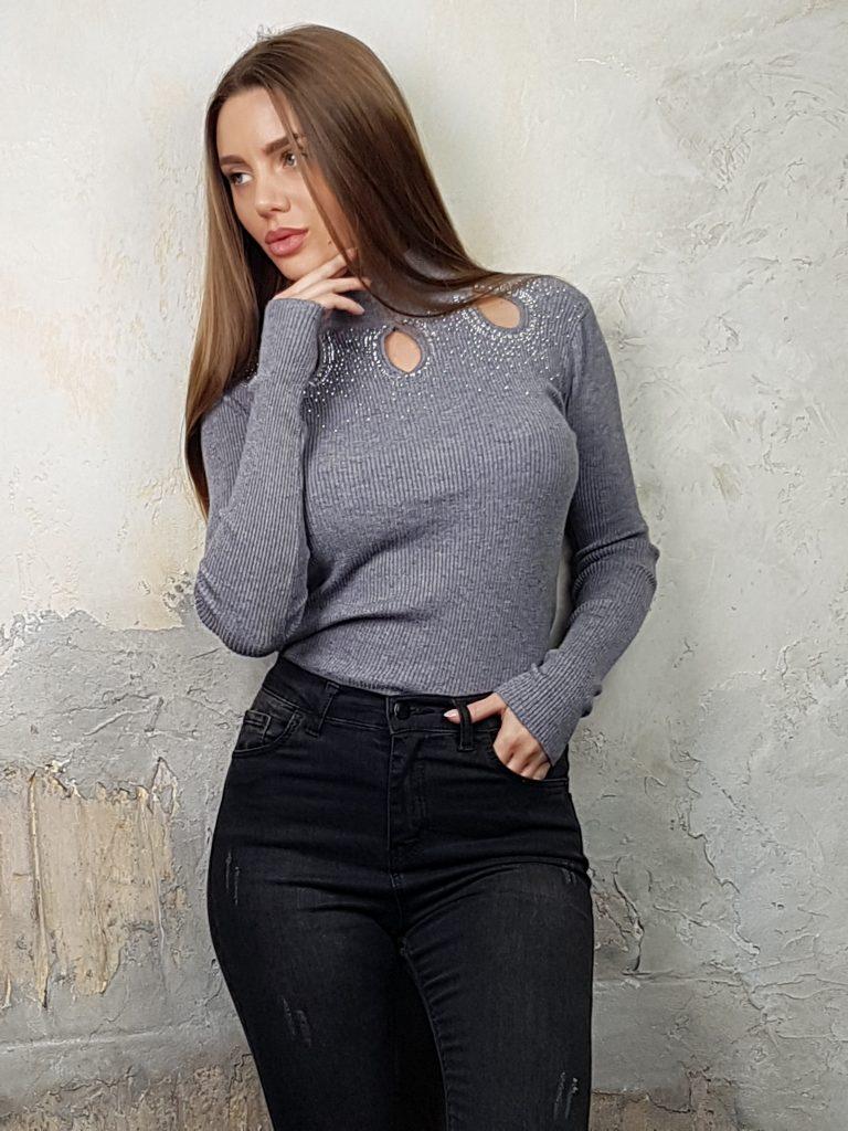 Дамска блуза с дантелено деколте Forest Bella 1336 - 2