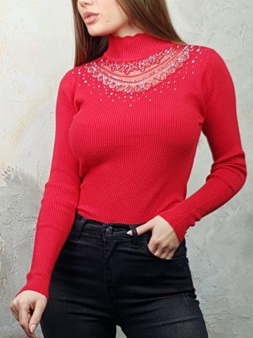 Стилна дамска блуза с дантела Foresta Bella 1257 - 2