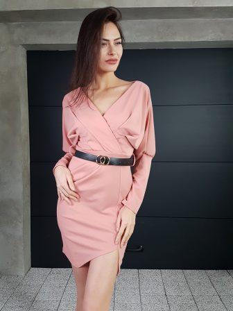 Дамска рокля с копчета на ръкавите WLS 3173 - 0