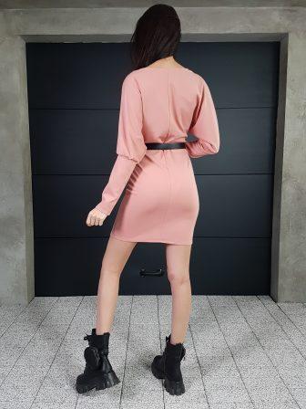 Дамска рокля с копчета на ръкавите WLS 3173 - 1