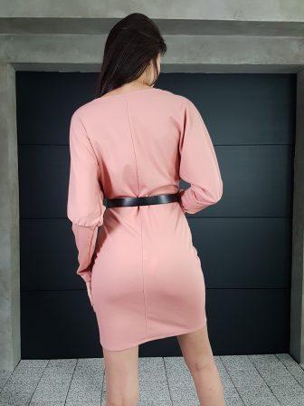 Дамска рокля с копчета на ръкавите WLS 3173 - 2