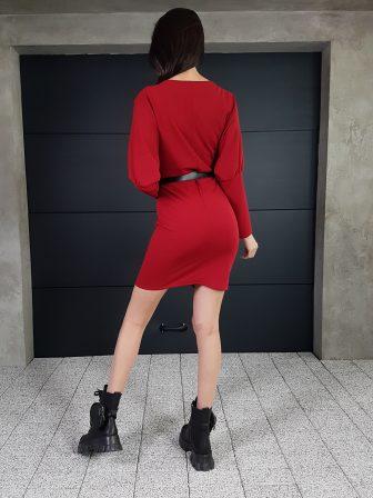 Дамска рокля с копчета на ръкавите WLS 3173 - 5