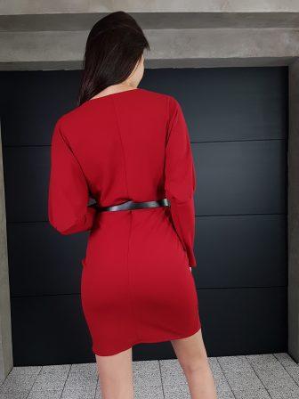 Дамска рокля с копчета на ръкавите WLS 3173 - 6