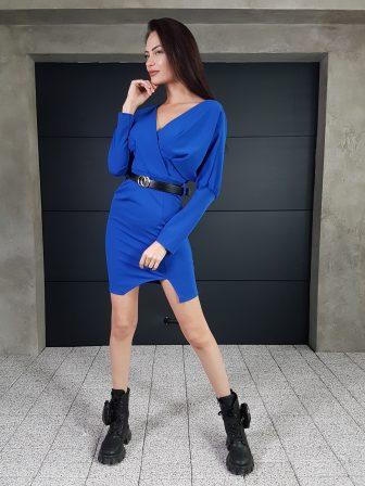Дамска рокля с копчета на ръкавите WLS 3173 - 7