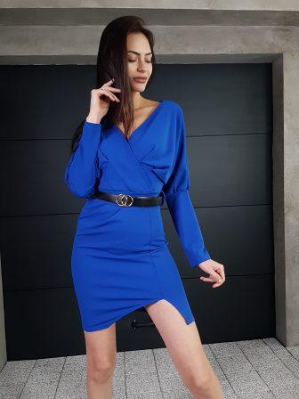 Дамска рокля с копчета на ръкавите WLS 3173 - 8