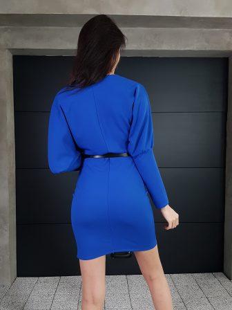 Дамска рокля с копчета на ръкавите WLS 3173 - 10