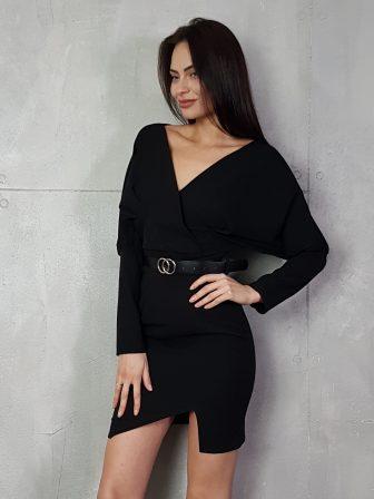 Дамска рокля с копчета на ръкавите WLS 3173 - 12