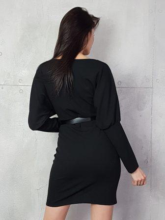 Дамска рокля с копчета на ръкавите WLS 3173 - 15