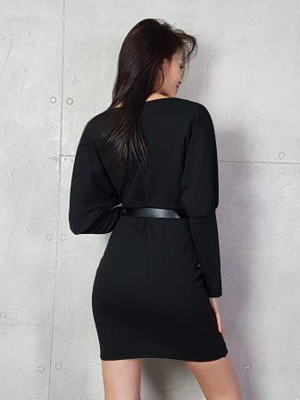 Дамска рокля с копчета на ръкавите WLS 3173 - 16