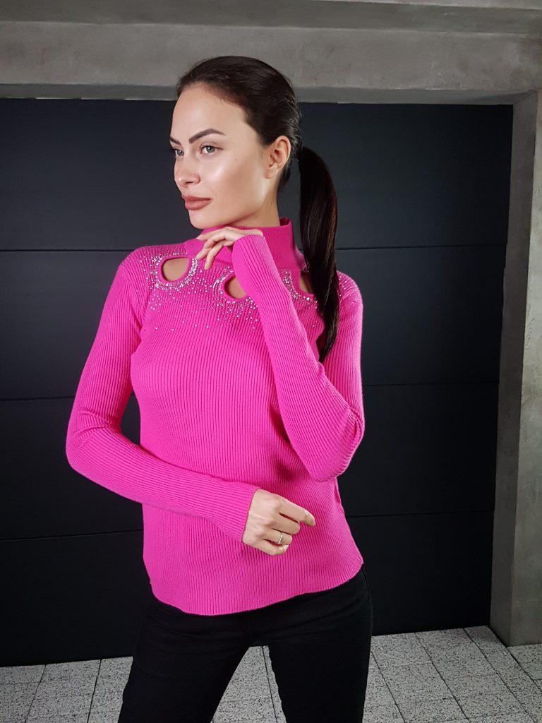 Дамска блуза с дантелено деколте Forest Bella 1336