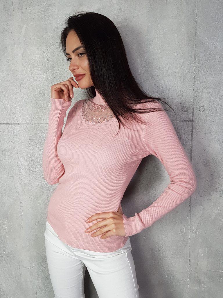 Стилна дамска блуза с дантела Foresta Bella 1257