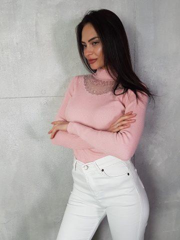 Стилна дамска блуза с дантела Foresta Bella 1257 - 4