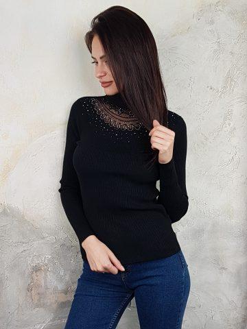 Дамска блуза с дантелено деколте Forest Bella 1336 - 12